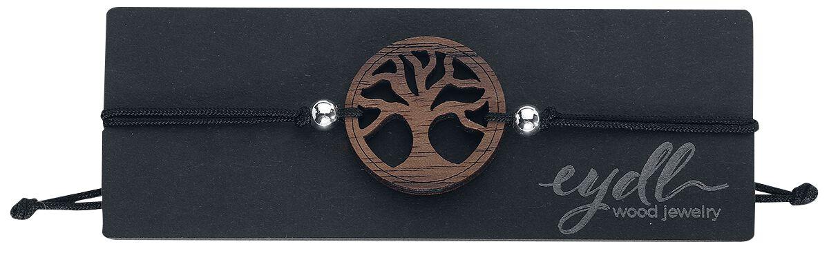 Armbaender für Frauen - eydl Wood Jewelry Baum des Lebens Armband schwarz  - Onlineshop EMP