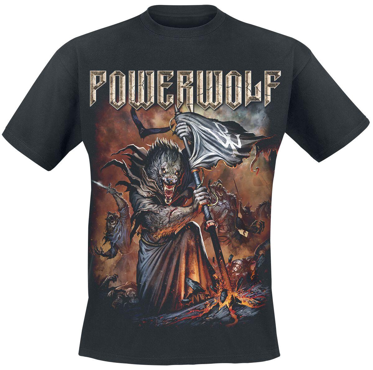 Image of   Powerwolf Wolfsnächte 2018 Tour-Shirt T-Shirt sort