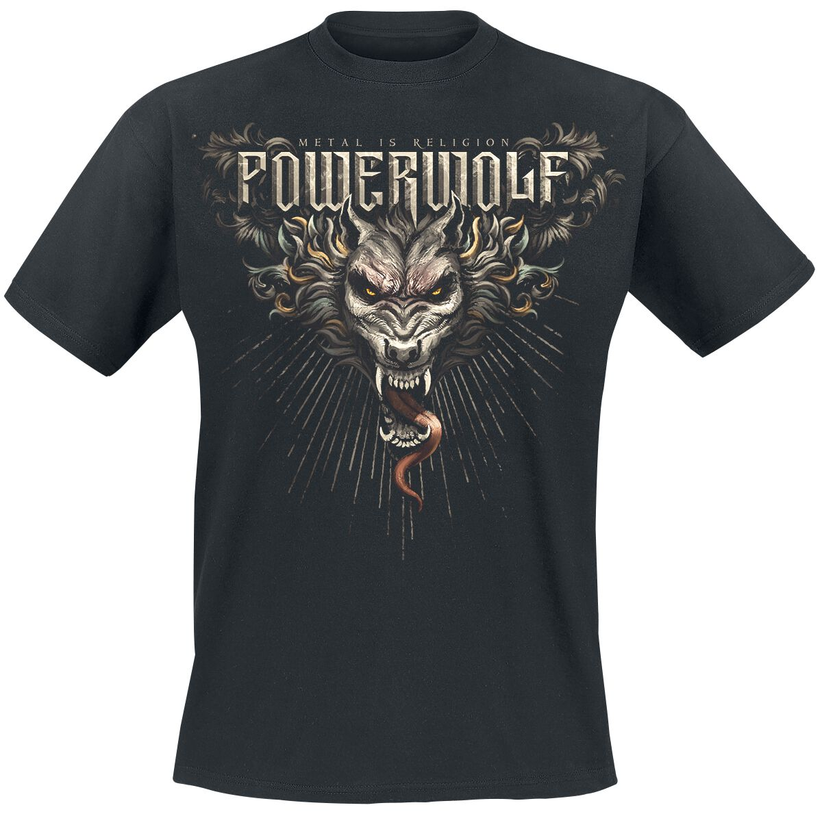 Image of   Powerwolf Dracul Wolf T-Shirt sort