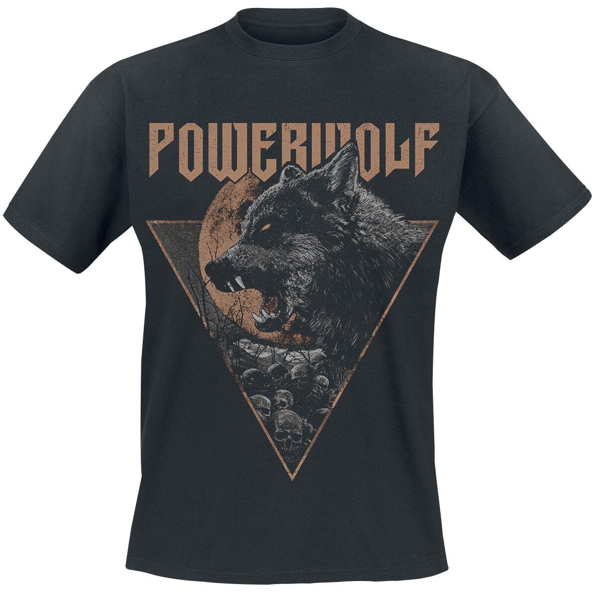 Image of   Powerwolf Fullmoon T-Shirt sort