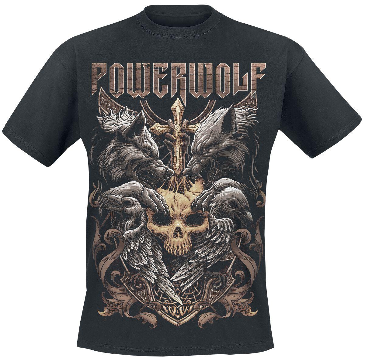 Image of   Powerwolf Wolves & Ravens T-Shirt sort