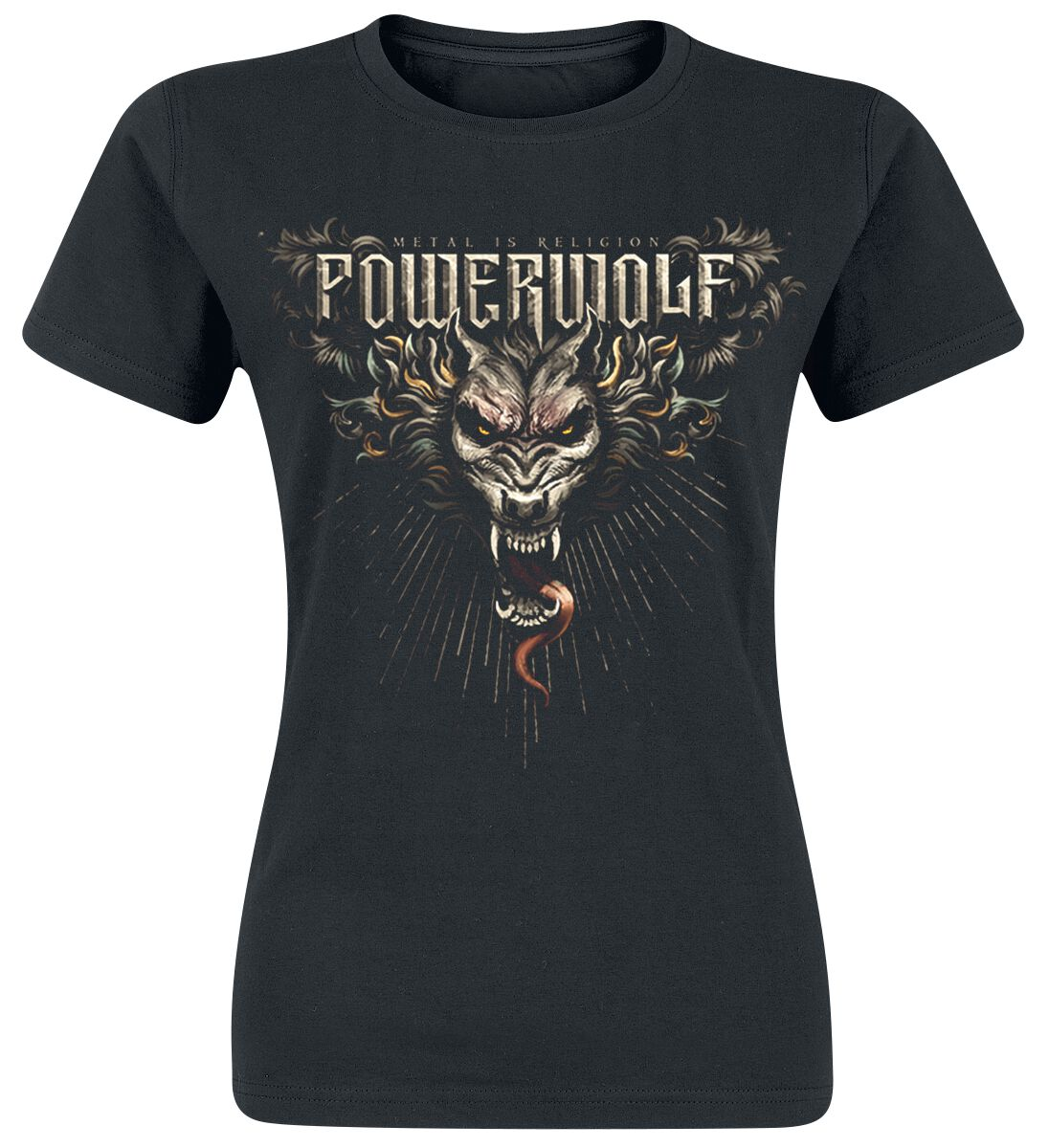 Image of   Powerwolf Dracul Wolf Girlie trøje sort