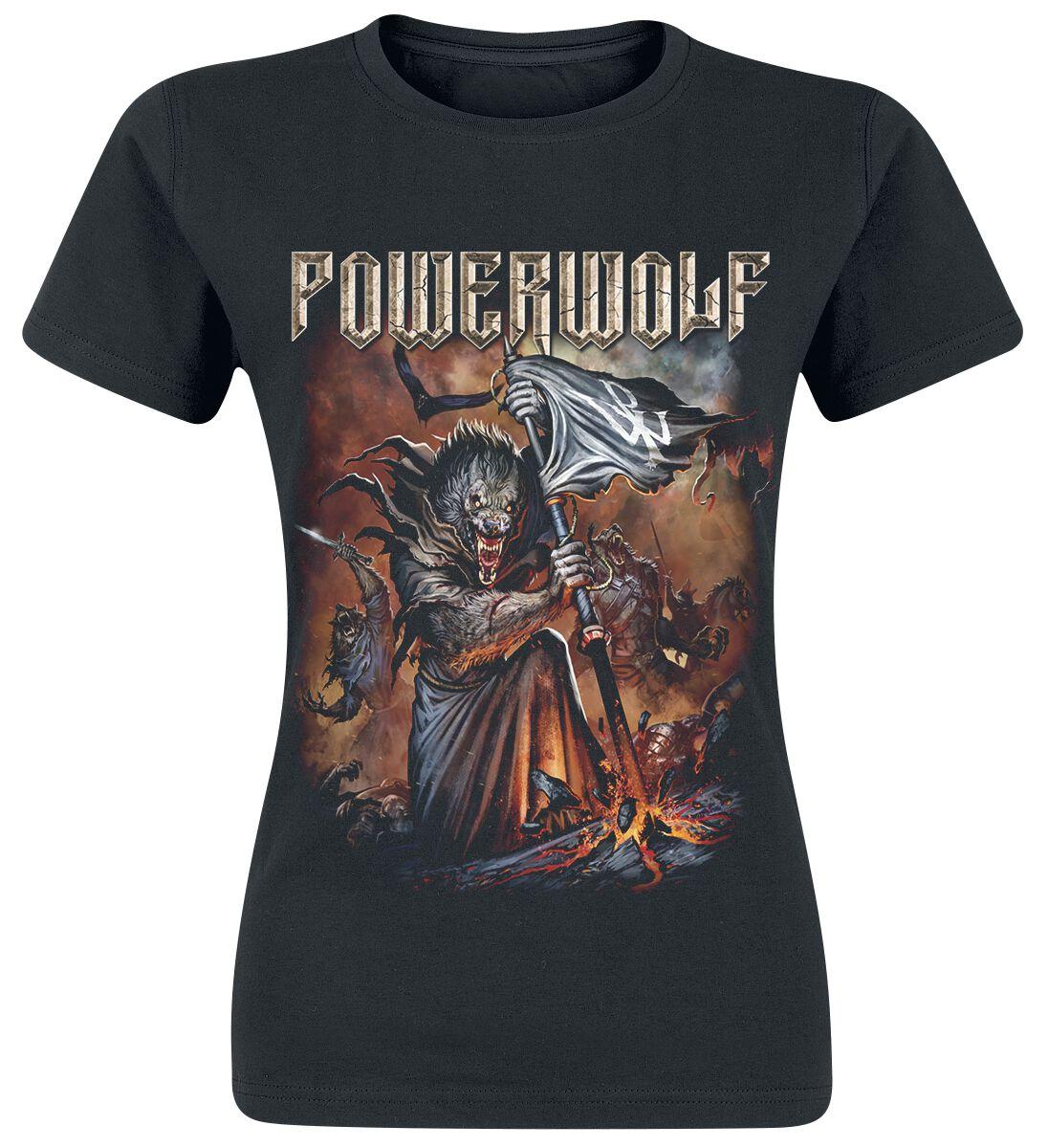 Image of   Powerwolf Wolfsnächte 2018 Girlie trøje sort