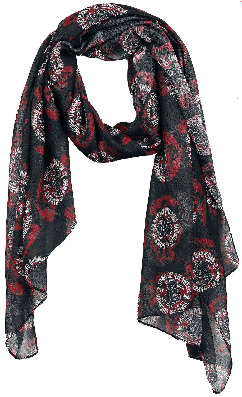Schals für Frauen - Sons Of Anarchy Redwood Original Schal schwarz weiß rot  - Onlineshop EMP