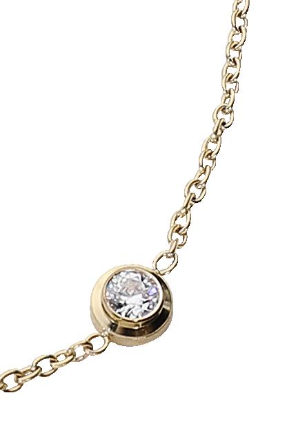 Image of Goldglanz Fusskette goldfarben