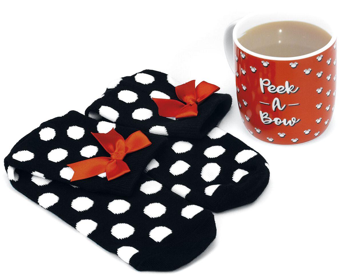 Image of   Mickey & Minnie Mouse Minnie - Tasse mit Socke Keramisk krus sort-hvid-rød