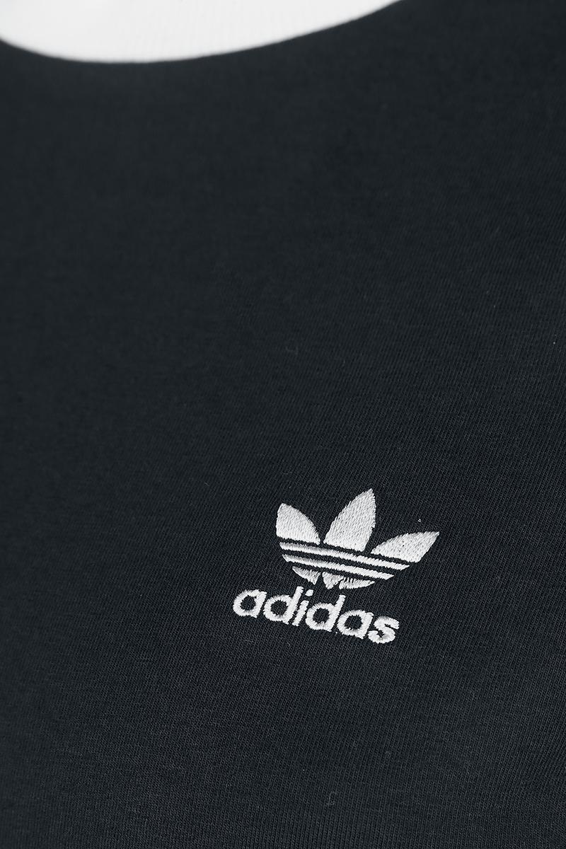 Image of Adidas 3 Stripes LS Girl-Longsleeve schwarz/weiß