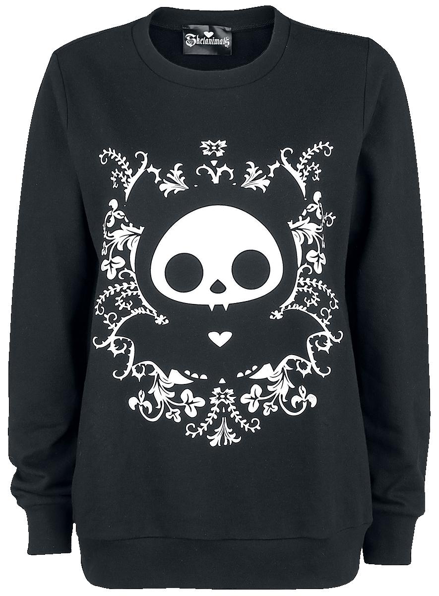Skelanimals - Diego The Bat - Girls sweatshirt - black image