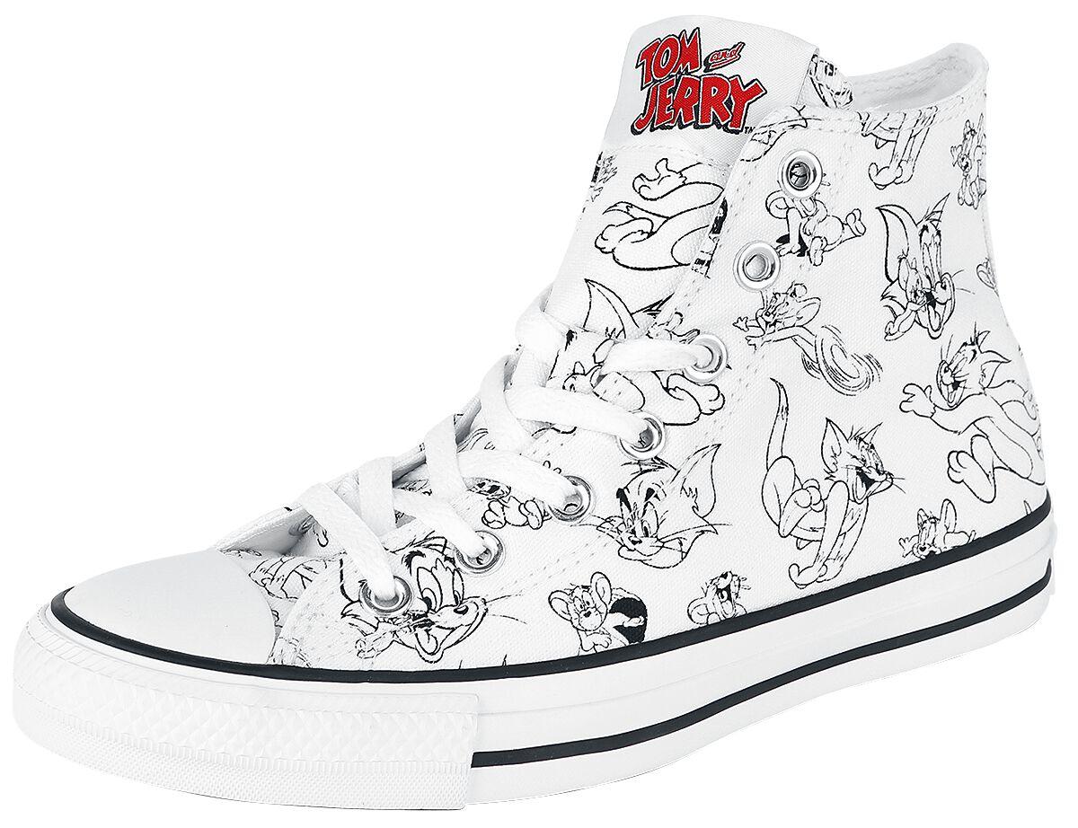 Sneakers für Frauen - Converse Tom Jerry Chuck Taylor All Star Hi Sneaker weiß  - Onlineshop EMP