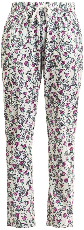 Waesche für Frauen - Guardians Of The Galaxy Groot Floral Pyjama Hose multicolour  - Onlineshop EMP