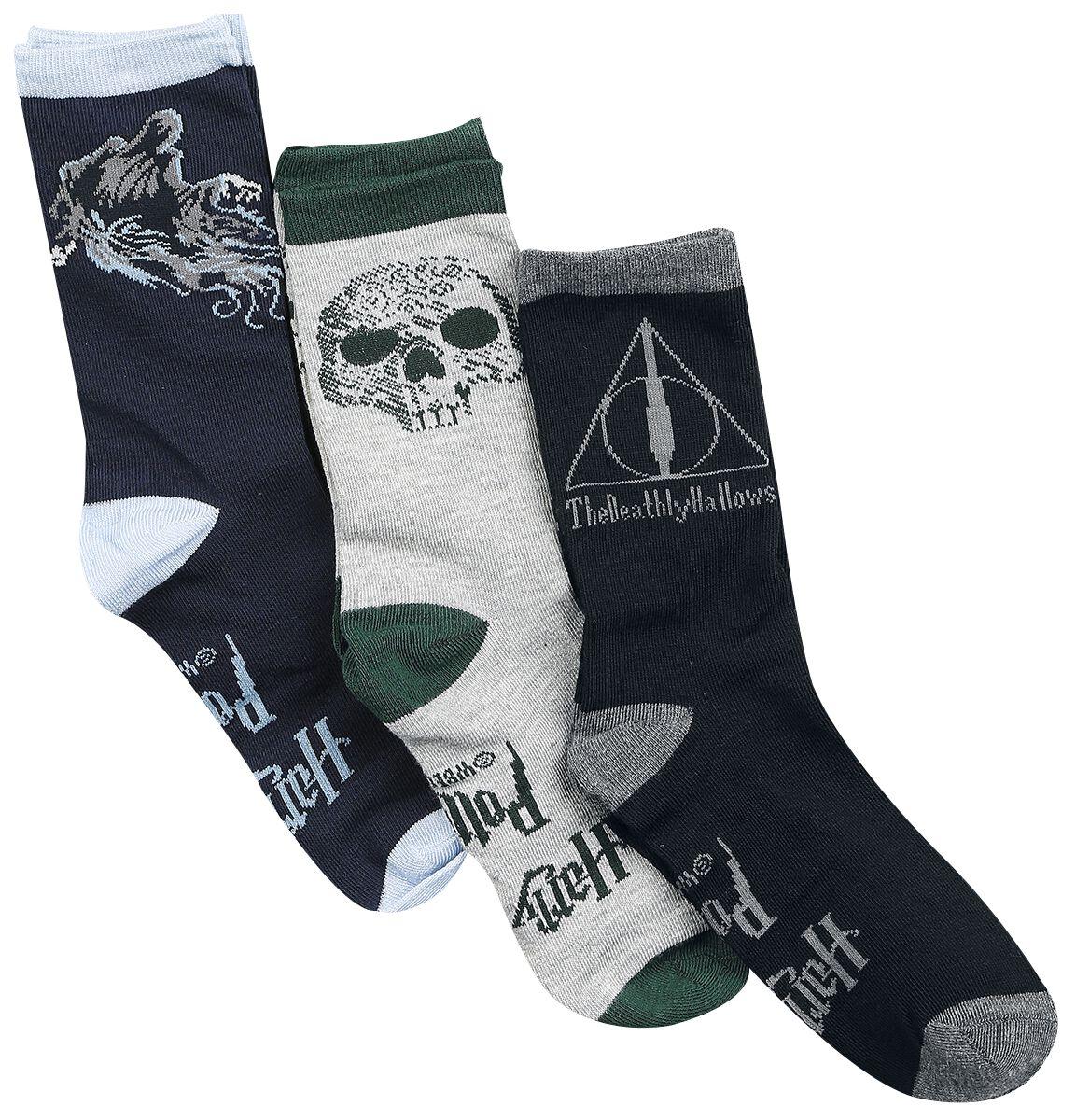 Socken für Frauen - Harry Potter Deathly Hallows Socken Mehrfarbig  - Onlineshop EMP