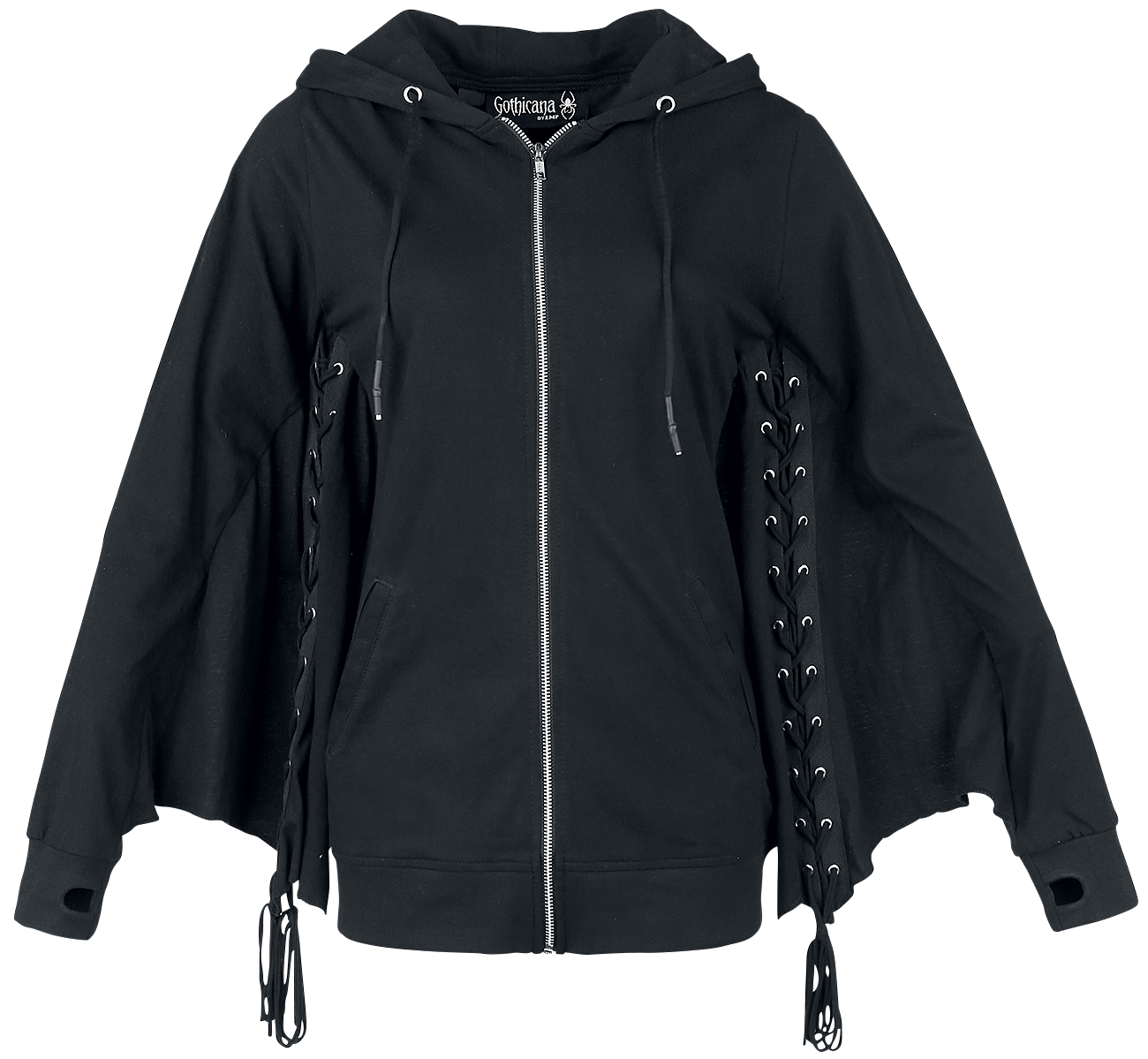 Gothicana by EMP - Dark Wings - Girls hooded zip - black image