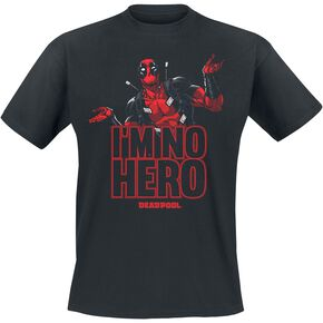 Deadpool I'm No Hero T-shirt noir