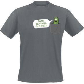 Rick & Morty Big Reveal T-shirt gris