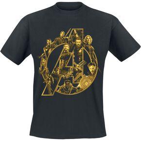 Avengers Infinity War - Black A Logo T-shirt noir