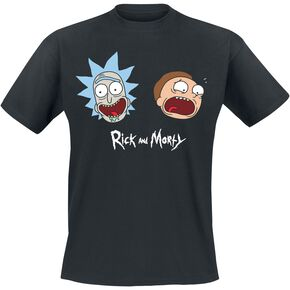 Rick & Morty Heads T-shirt noir
