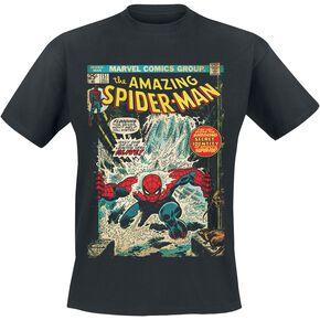 Spider-Man Comic Cover T-shirt noir