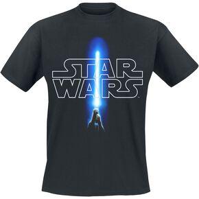 Star Wars Logo And Saber T-shirt noir
