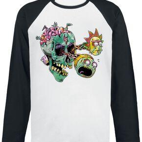 Rick & Morty Skull Eyes Manches longues blanc/noir