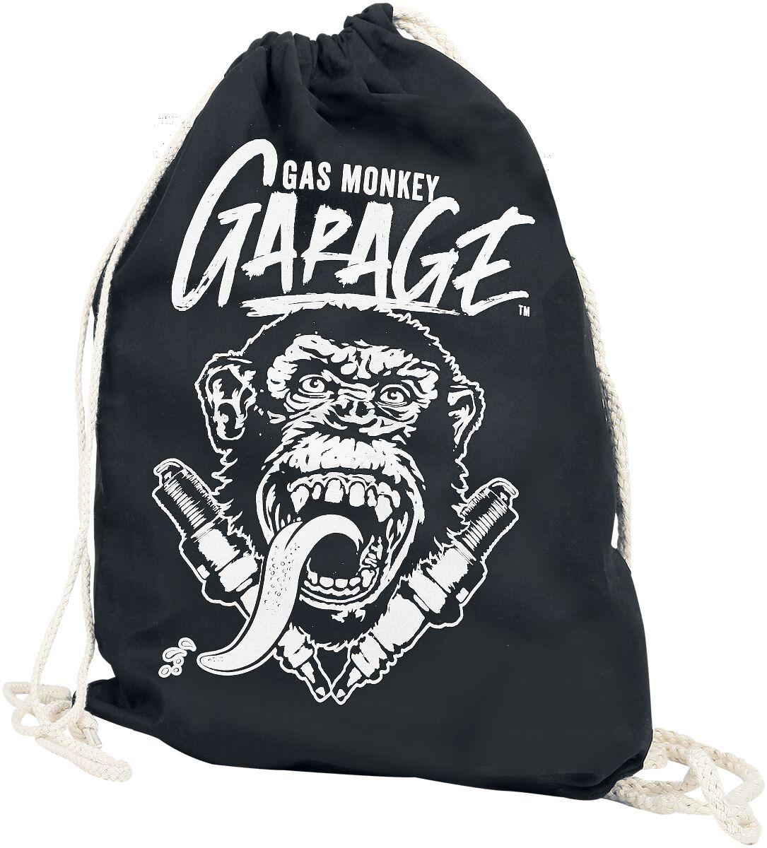 Sporttaschen für Frauen - Gas Monkey Garage Turnbeutel schwarz  - Onlineshop EMP