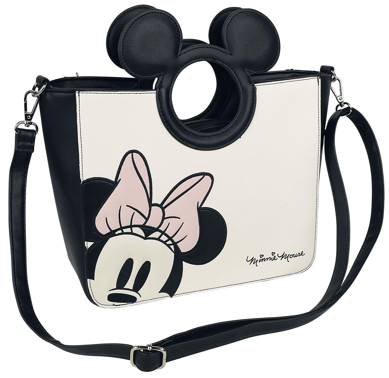 9a3aea4650e6d Handtaschen für Frauen - Micky Maus Loungefly Minni Handtasche weiß schwarz  - Onlineshop EMP