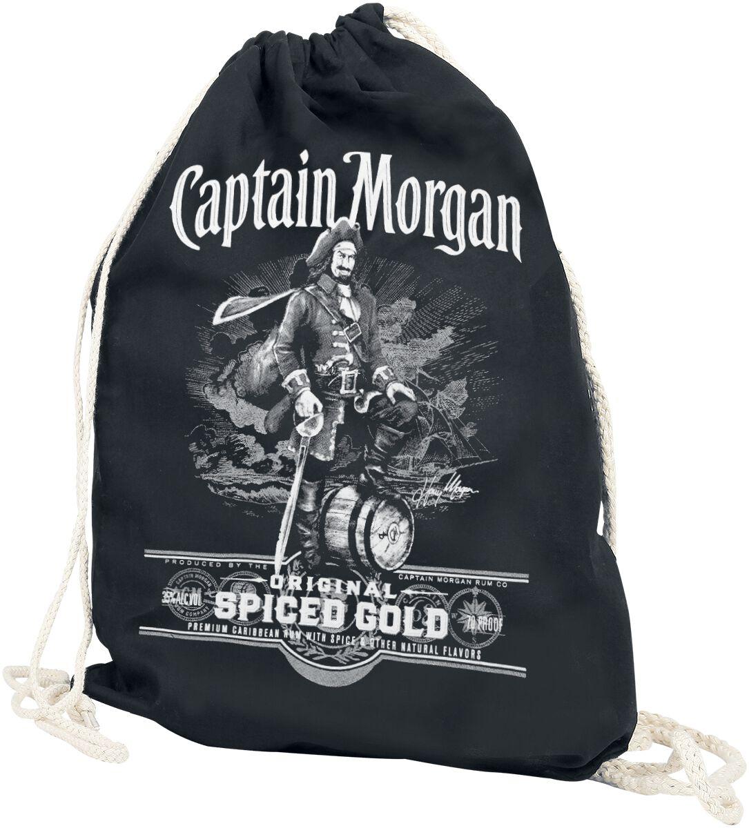 Sporttaschen - Captain Morgan Turnbeutel schwarz  - Onlineshop EMP