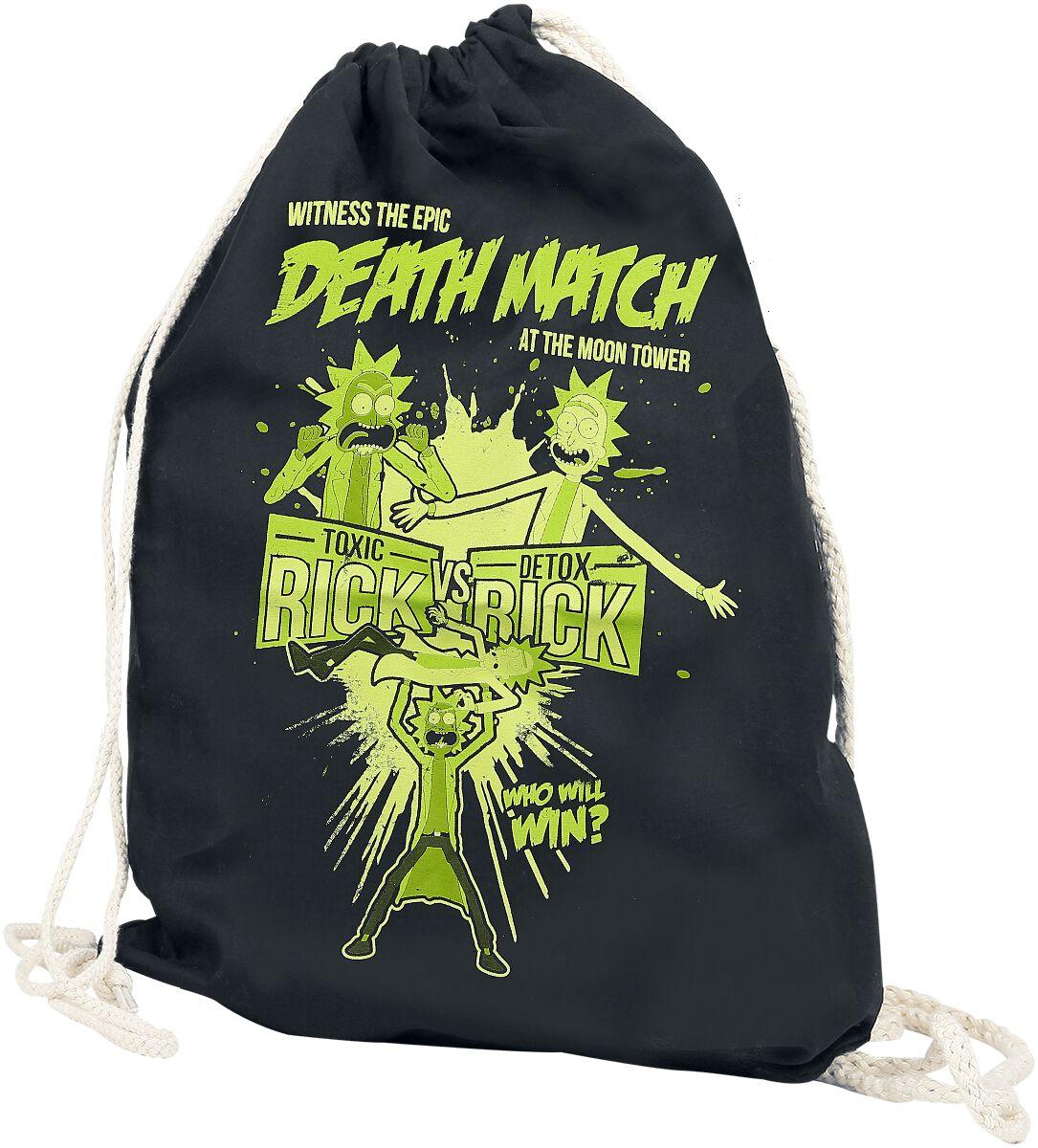 Sporttaschen für Frauen - Rick And Morty Death Match Turnbeutel schwarz  - Onlineshop EMP
