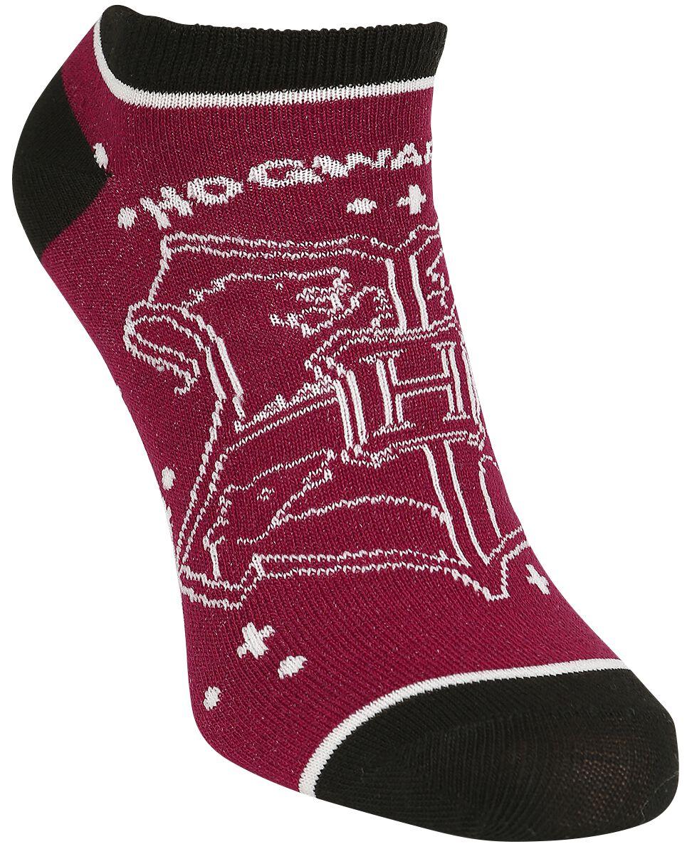 Socken für Frauen - Harry Potter Hogwarts Socken rot schwarz  - Onlineshop EMP
