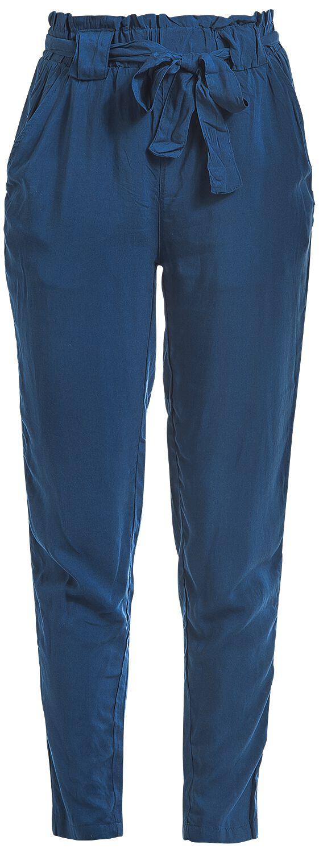 Hosen für Frauen - Fresh Made Ruffled Ladies Pant Stoffhose blau  - Onlineshop EMP