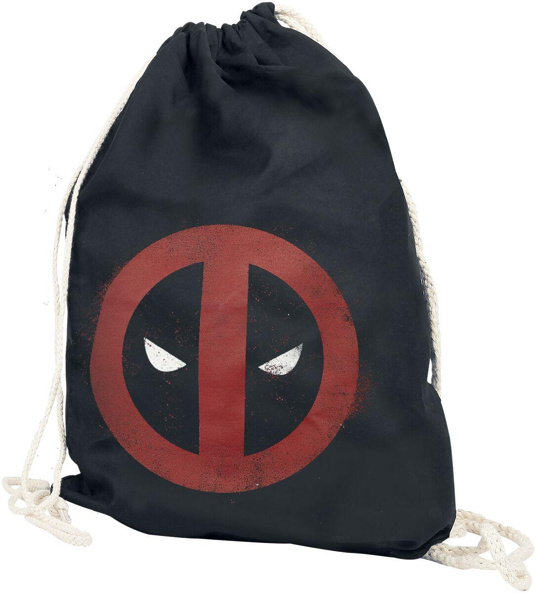Sporttaschen für Frauen - Deadpool Splatter Logo Turnbeutel schwarz  - Onlineshop EMP