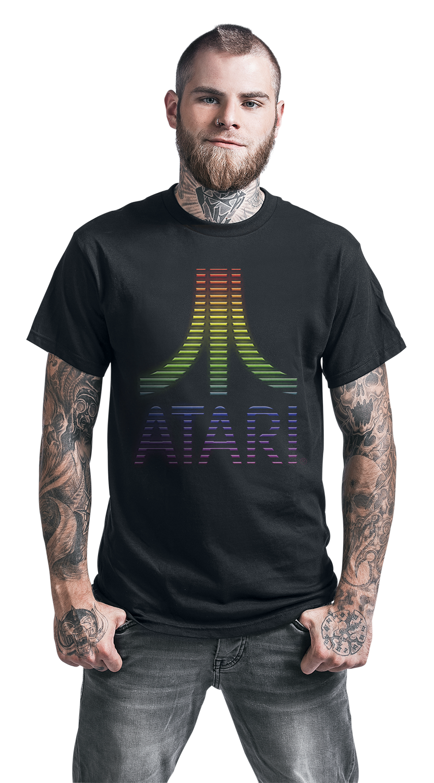 Image of Atari Multi Layer Logo T-Shirt schwarz