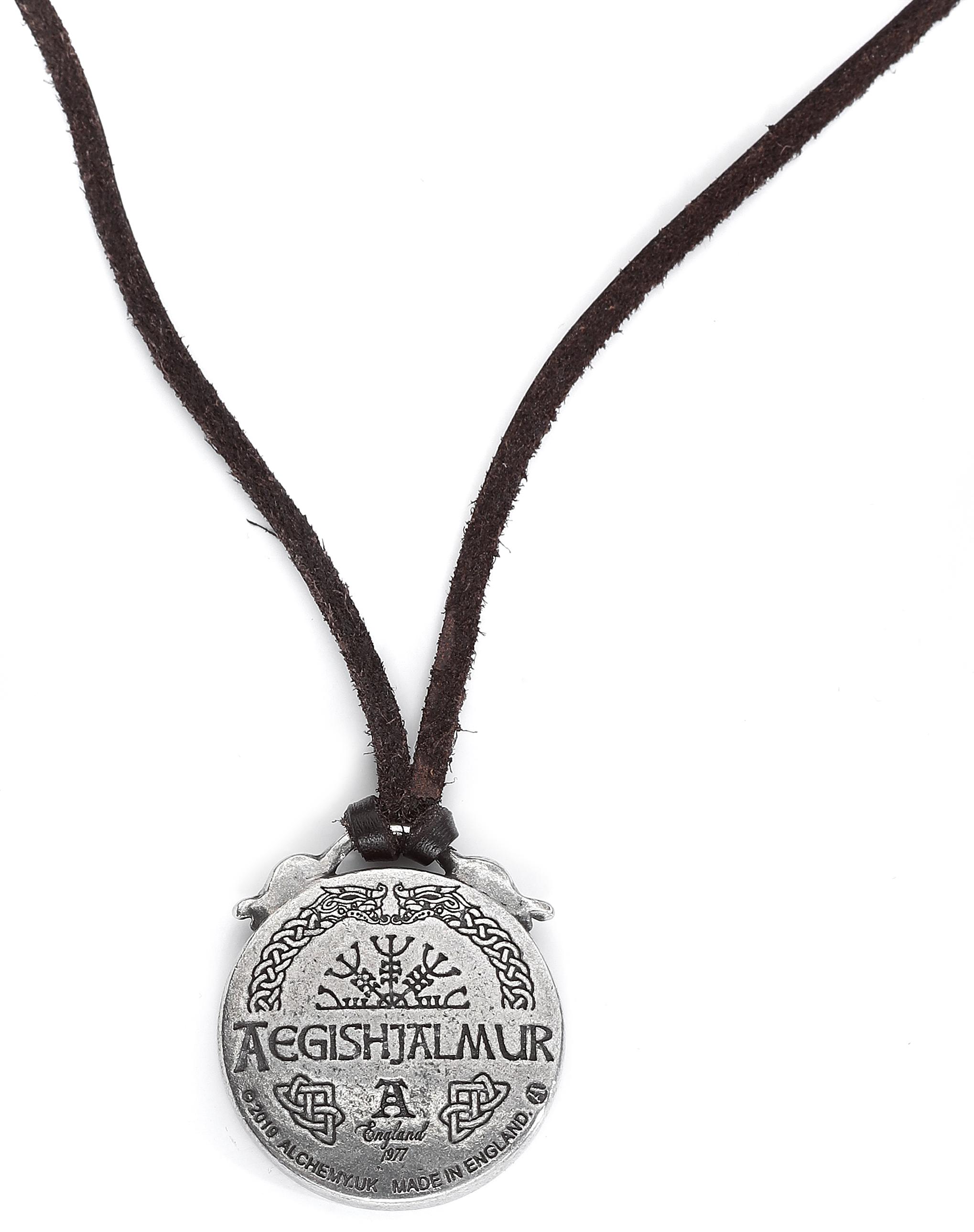 Image of Alchemy Gothic Aegishjalmur Halskette silberfarben
