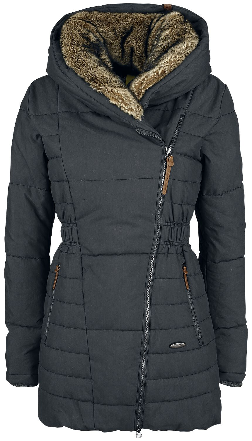Image of Alife and Kickin Long Frieda Cappotto donna nero