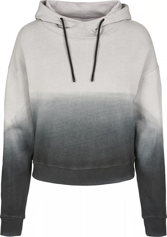 Urban Classics - Ladies Dip Dye Hoodie - Girls hooded sweatshirt - black-grey image