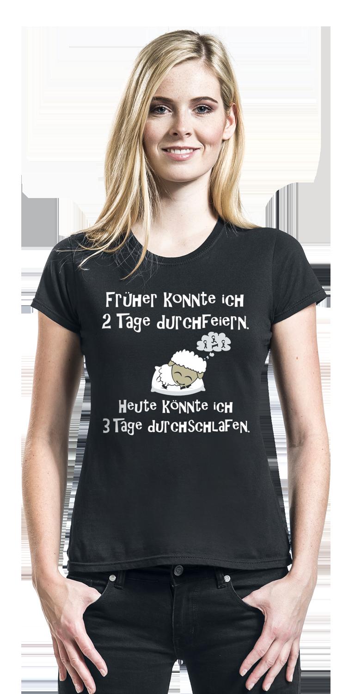 Image of 2 Tage durchfeiern Girl-Shirt schwarz