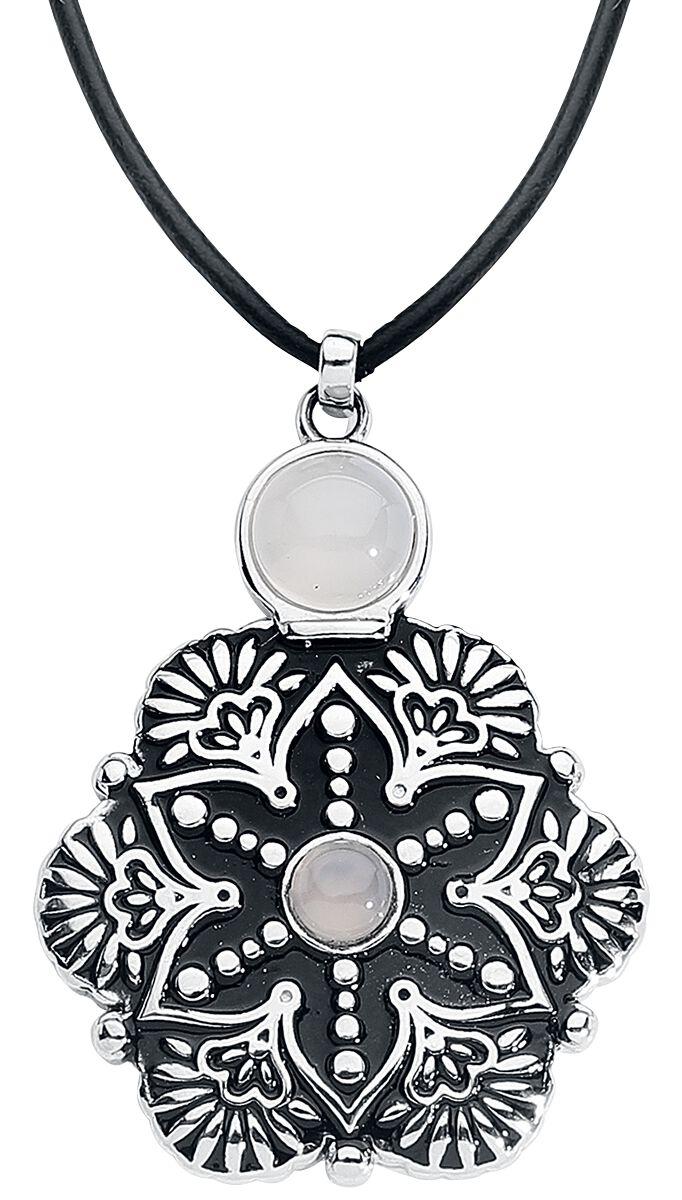 Ketten für Frauen - Mysterium® Tearbottle Mandala Flower Necklace Halskette silberfarben  - Onlineshop EMP