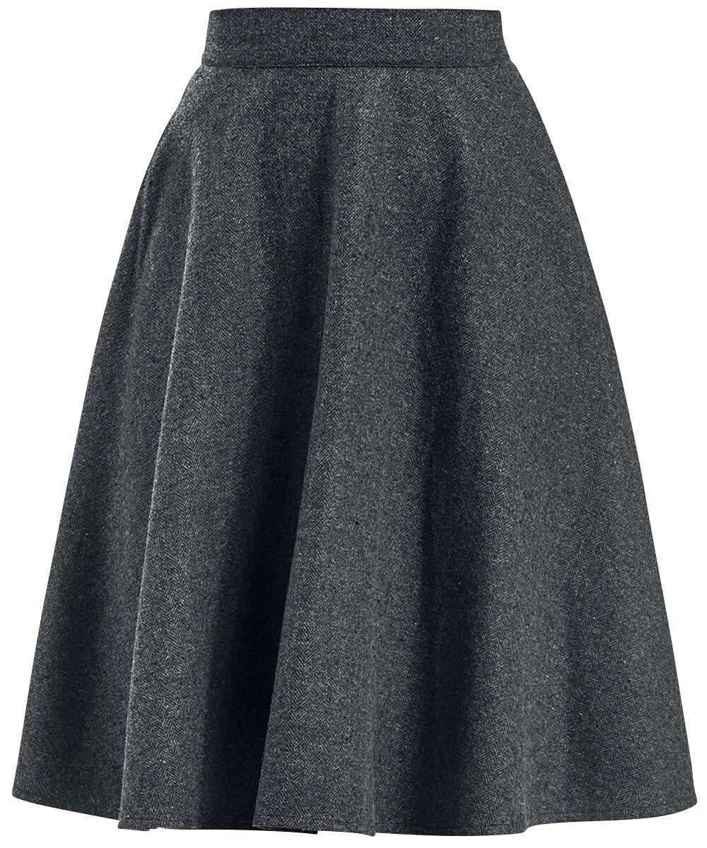 Roecke - Banned Retro Another Fab Skirt Mittellanger Rock grau  - Onlineshop EMP
