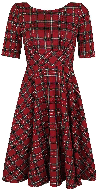 Kleider - Hell Bunny Irvine 50s Dress Mittellanges Kleid rot  - Onlineshop EMP