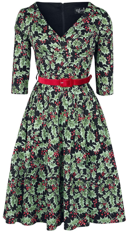 Kleider - Hell Bunny Holly Berry 50s Dress Mittellanges Kleid multicolor  - Onlineshop EMP