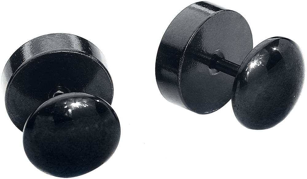 Image of Astra Fake Ear-Plugs Fake Plug schwarz/weiß/rot