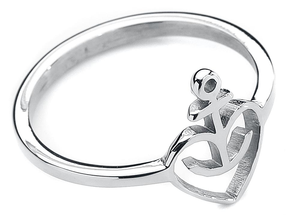 Image of Astra Herzanker Ring silberfarben