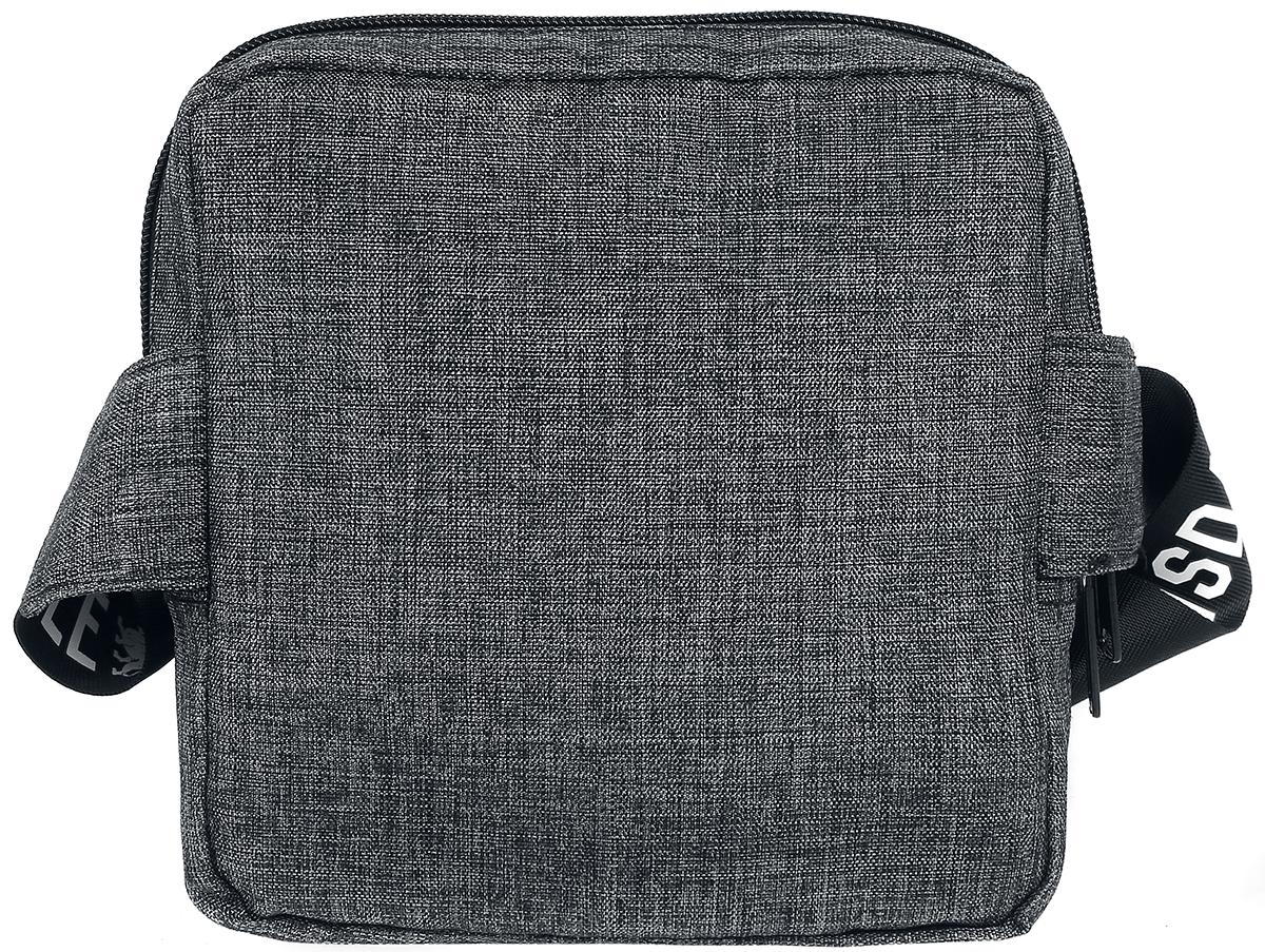 Image of Lonsdale London Cross Body Bag Umhängetasche grau meliert/schwarz