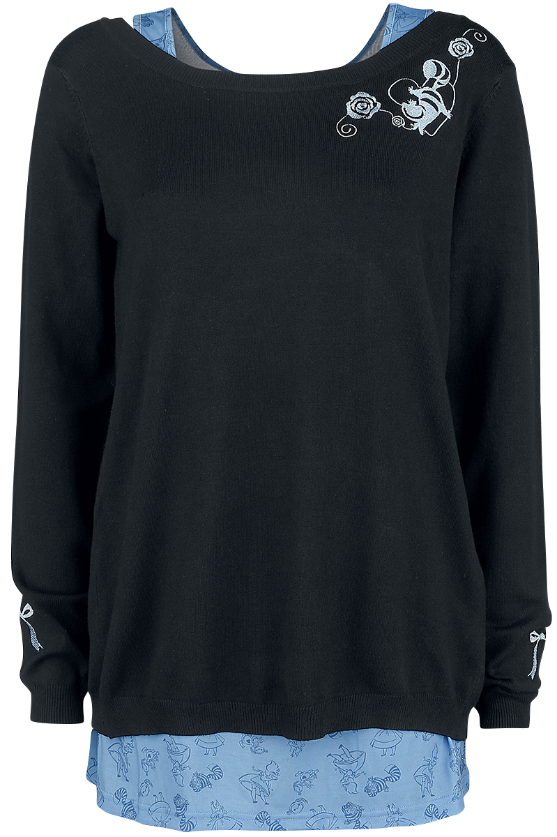 Alice in Wonderland - We're All Mad Here - Girls Sweater - black image