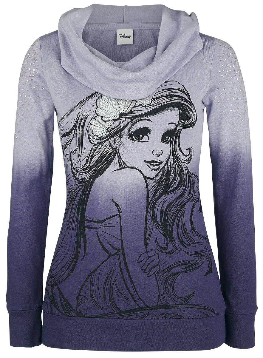 The Little Mermaid - Shell - Girls hooded sweatshirt - lilac image
