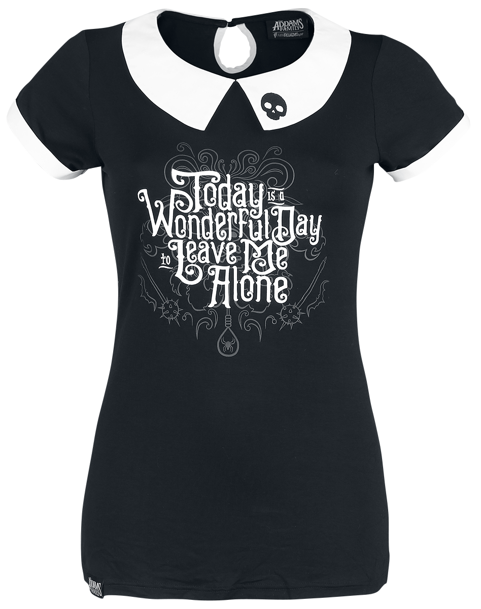The Addams Family - Leave Me Alone - Girls shirt - black-white image