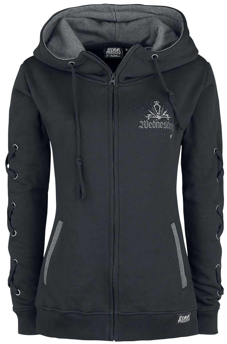 The Addams Family - Wednesday - Girls hooded zip - black image
