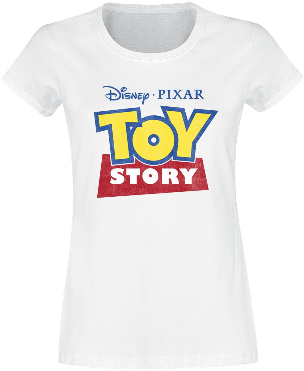 Toy Story Logo Girl-Shirt weiß