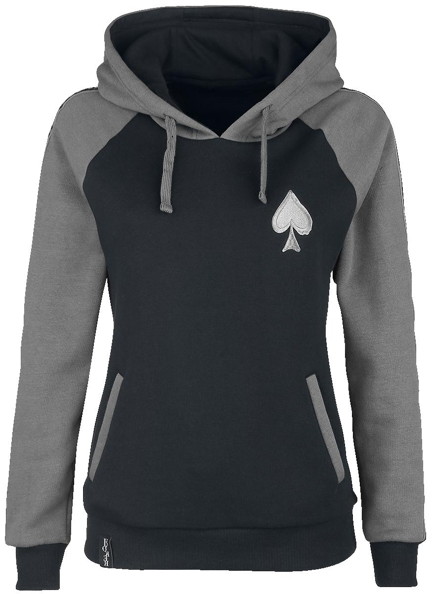 The Joker - Comic - Girls hooded sweatshirt - black-grey image