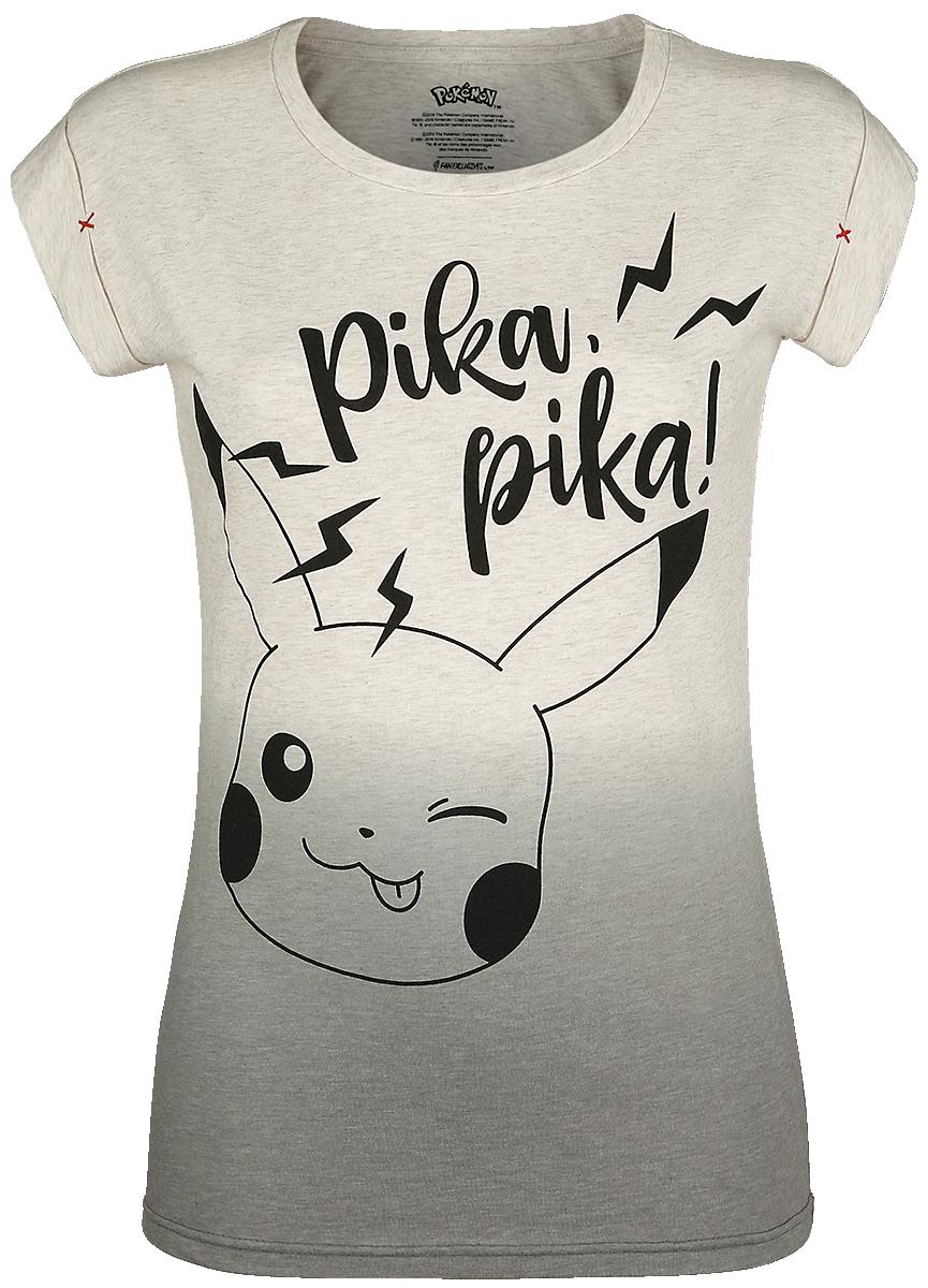 Pokémon - Pikachu - Pika, Pika! - Girls shirt - white-grey image