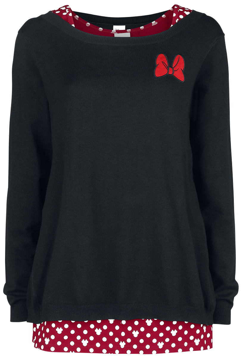 Mickey Mouse - Minnie Mouse - Sweater - black-white-red image